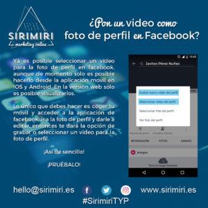Pon un video como foto de perfil en Facebook
