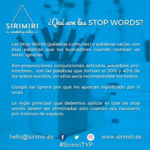 Qué son las Stop Words