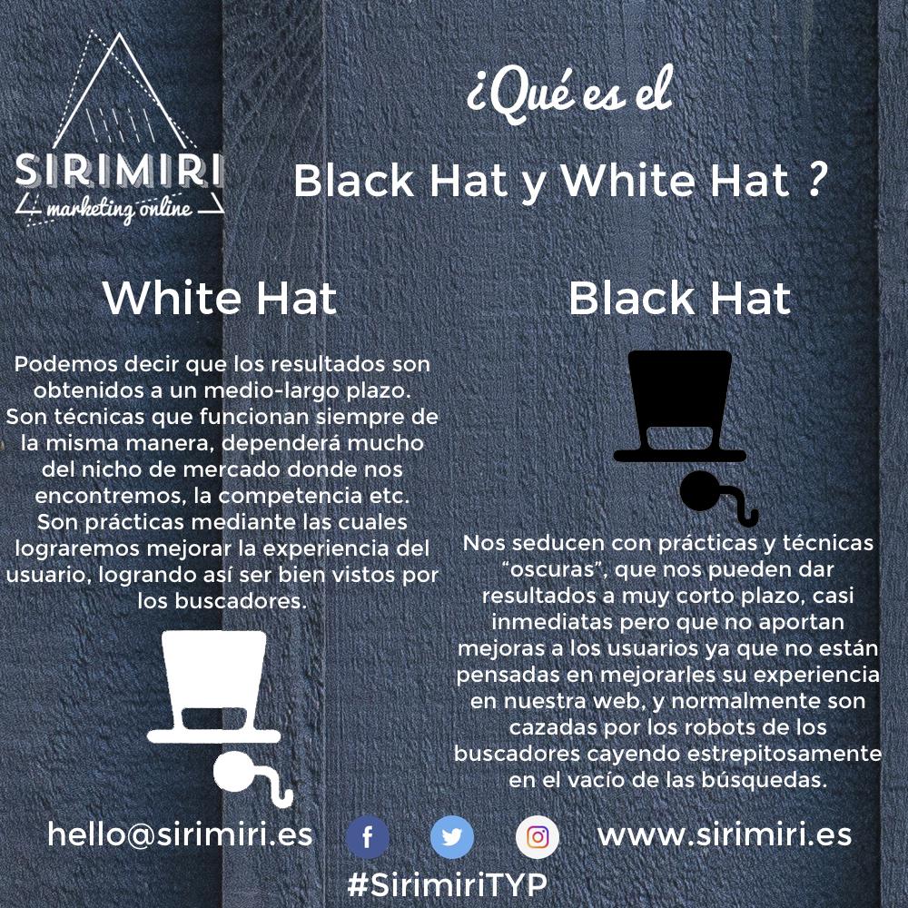 Typ - black hat y white hat - SIRIMIRI
