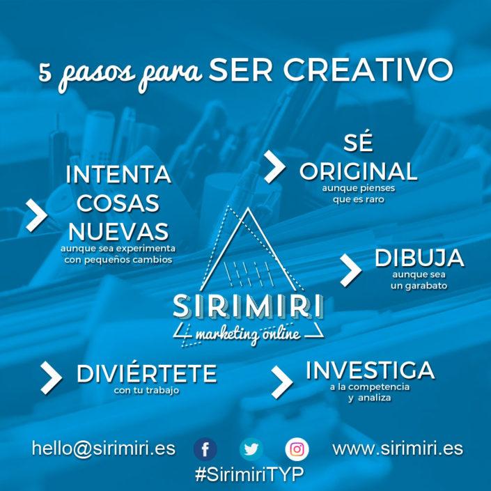 5 pasos para ser creativo