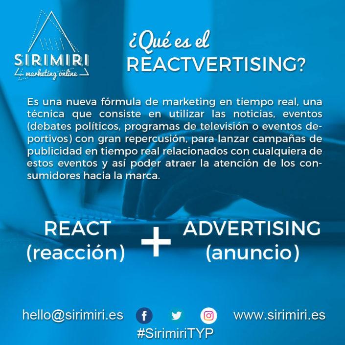 ¿Qué es el Reactvertising?